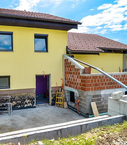 Travaux extension maison Yvetot